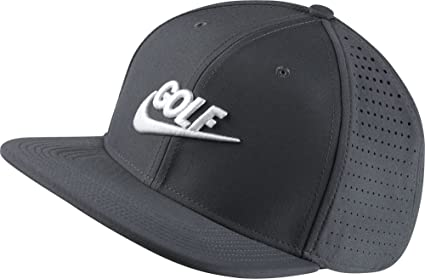 13cfbb706b5 Image Unavailable. Image not available for. Color  Nike Golf AeroBill  Snapback Golf Hat Dark Grey ...