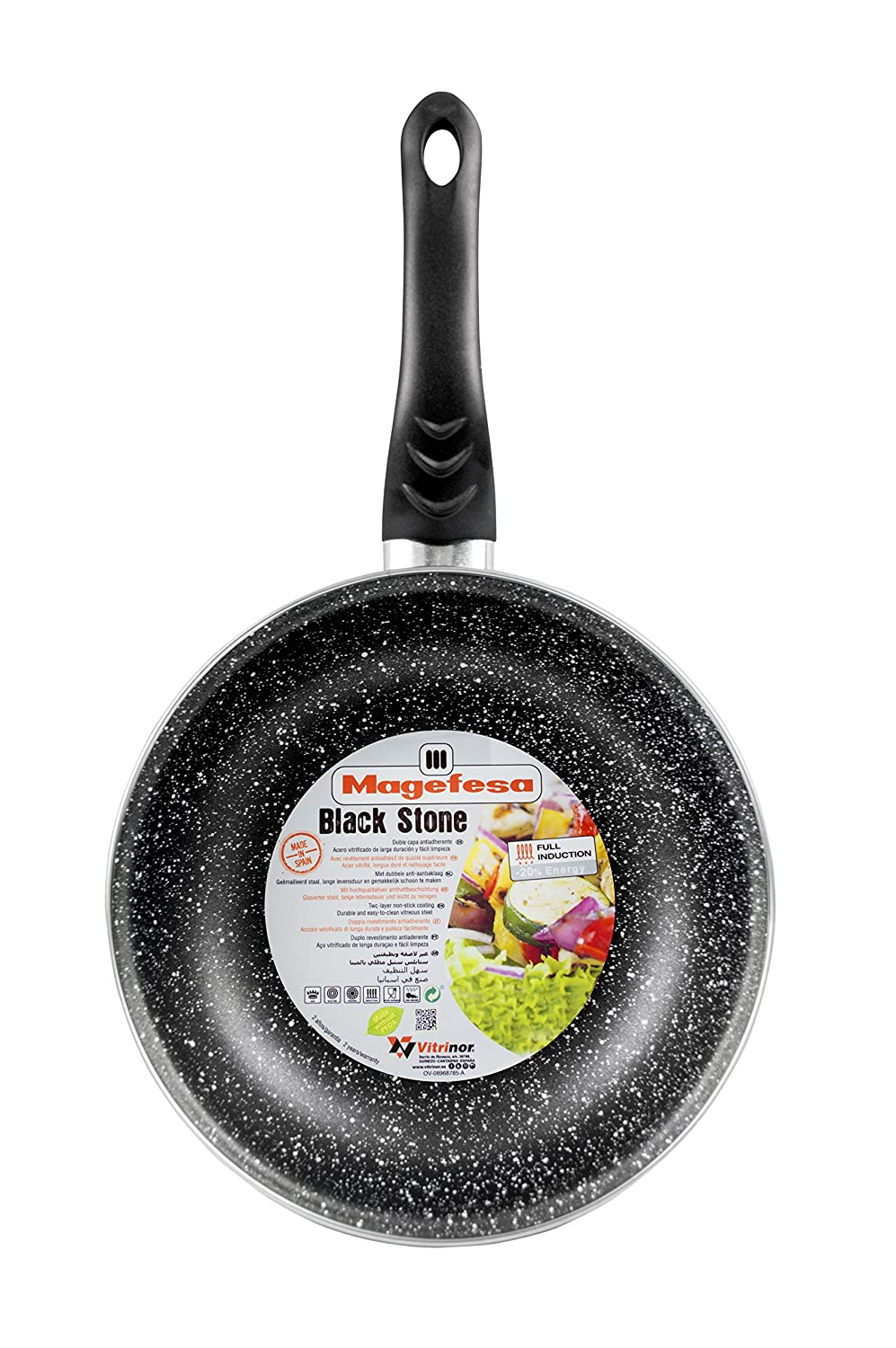 Amazon.com: Magefesa Jordan Pack Frying Pans with Non-Stick Interior and Exterior Enamel, Enamel, Stone Effect: Home & Kitchen