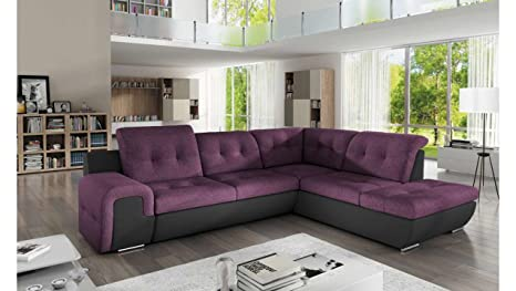 JUSThome Galaxy B sofá Esquina sofá Cama Piel sintética de ...