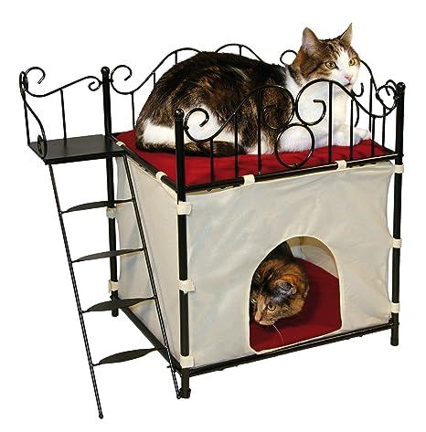 Kerbl Casita para gatos DIVA de metal, 60 x 36 x 54 cm