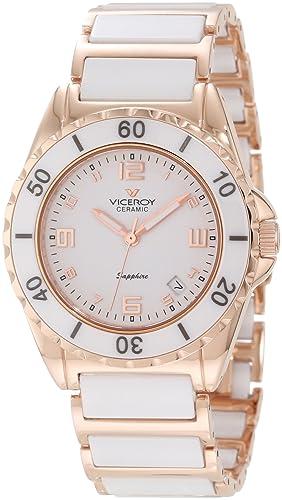 Reloj Viceroy Ceramica Y Zafiro 47548-95 Mujer Blanco: Amazon.es: Relojes
