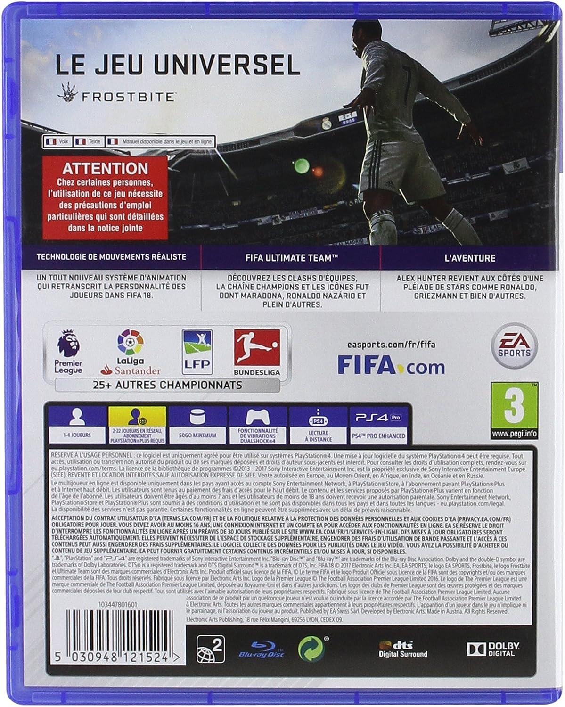 FIFA 18 - PlayStation 4 [Importación francesa]: Amazon.es: Videojuegos