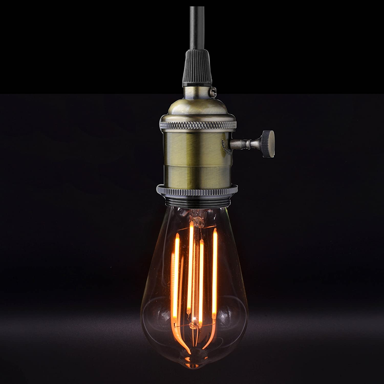 Energy Saving Nostralux/® Premium LED Vintage Dimmable Squirrel Cage Style Light Bulb E27 Edison Retro Style