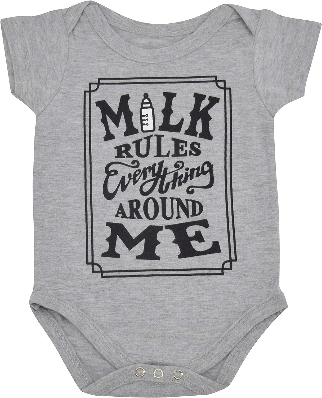 Unique Baby Boys Milk Rules Everything Onesie Layette Set