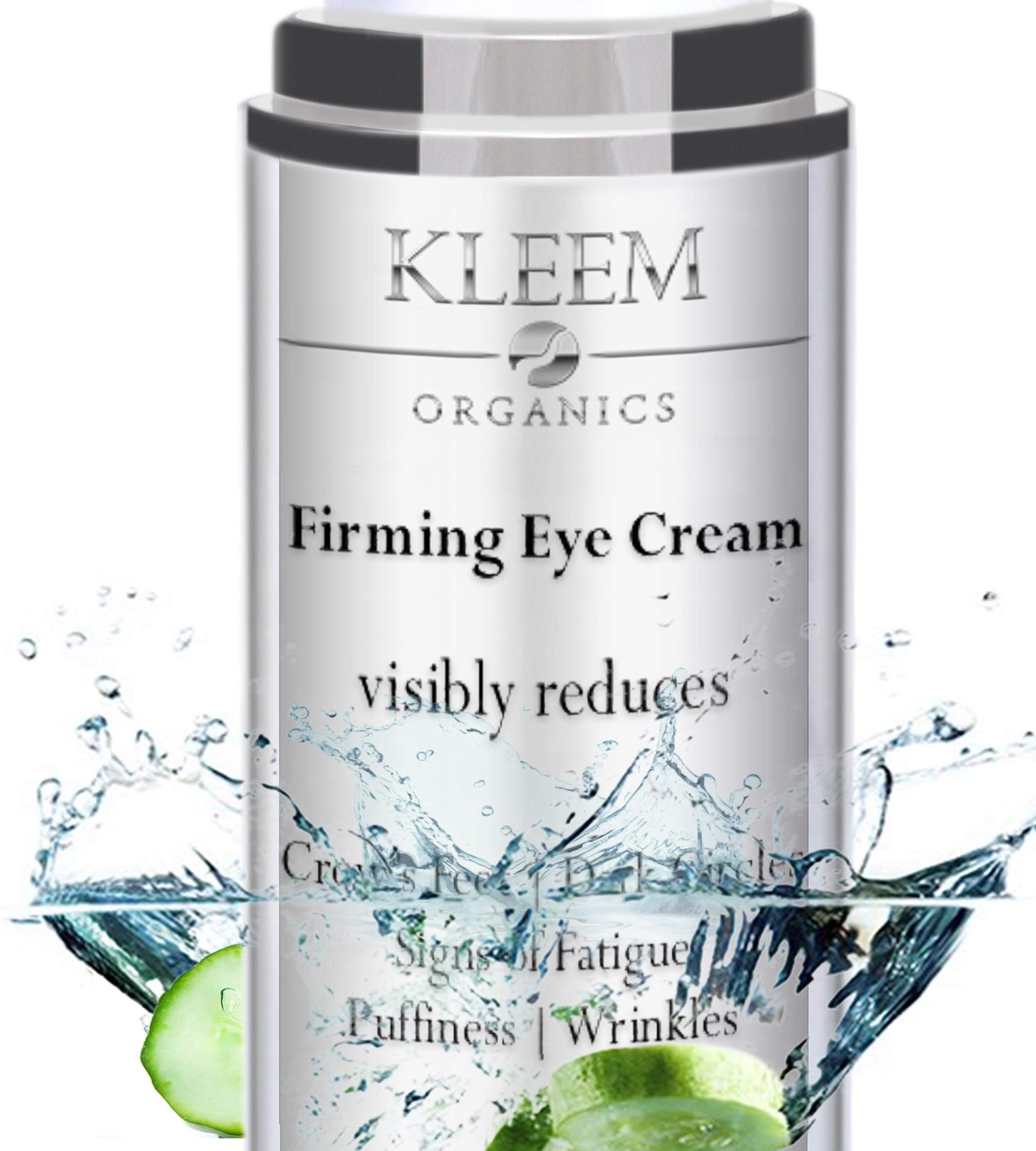 NEW Anti Aging Eye Cream for Dark Circles and Puffiness that Reduces Eye Bags, Crow's Feet, Fine Lines, and Sagginess in JUST 6 WEEKS. The Most Effective Under Eye Cream for Wrinkles (0.51 fl.oz) by Kleem Organics