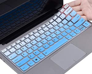 Keyboard Cover Compatible with Lenovo Flex 14 14 inch/Lenovo Yoga C940 C930 920 13.9 / Lenovo Yoga 730 720 13.3 / Lenovo Yoga 730 15.6 / Yoga 720 12.5 inch Keyboard Skin, Ombre Blue