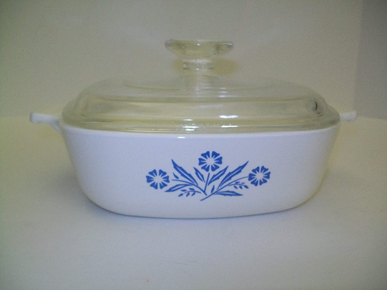 P-1-B Corning Ware Cornflower Blue Square Casserole//No Lid 1 Quart