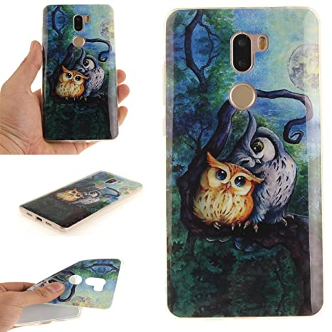 Guran® Silicona Funda Carcasa para Xiaomi Mi 5S Plus Smartphone Case Bumper Shock TPU Cover-Pintura al óleo búho