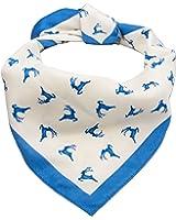 Alpenflüstern Damen Trachten-Nickituch Springende Hirsche ATX03700060 blau