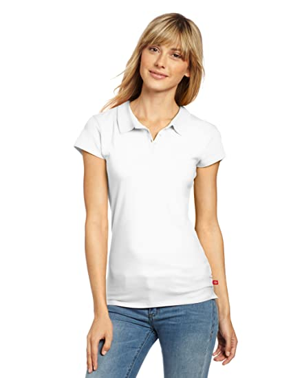 cfccae0e3 Amazon.com: Dickies Juniors Jersey Sleeve Polo Tee: Clothing