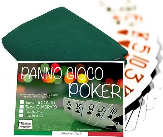 Mantel gamuza Juegos Cartas Poker Verde Protector Mesa – cm. 140 x ...