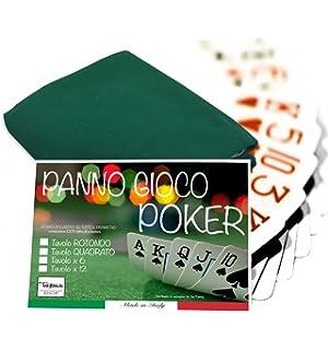 Mantel para juego de cartas como poker, paño de color verde ...