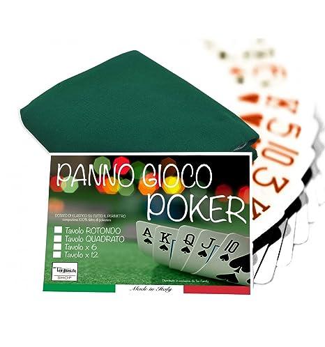 Mantel para juego de cartas como poker, paño de color verde, 130 cm,