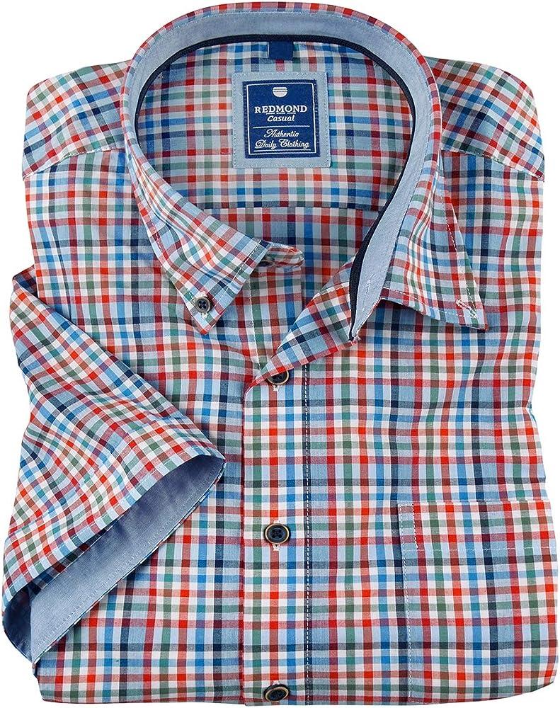 Redmond Camisa de Manga Corta a Cuadros XXL marrón-Azul, 2xl-8xl:3XL: Amazon.es: Ropa y accesorios