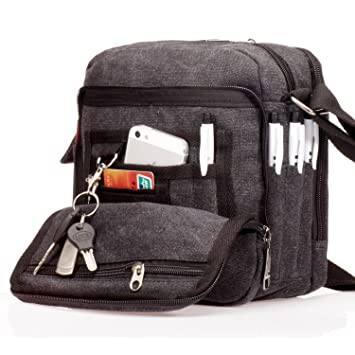 420d22b02d Outreo Men Messenger Bag Vintage Crossbody Small Canvas Shoulder Bag for  School Bookbag Tablet Book Retro Satchel Cross Body Work Tool Side Pack