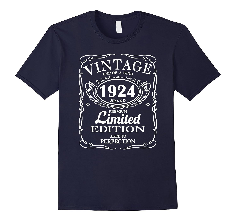 Born in 1924 93 Years Old Birthday Tshirt-TD