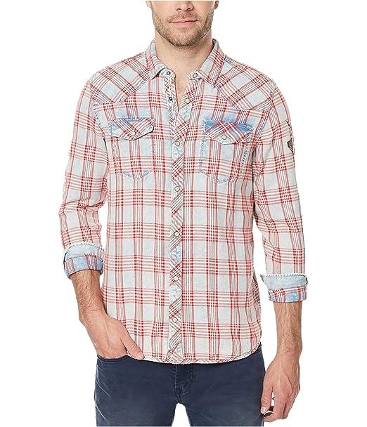 4572a319d5 Buffalo David Bitton Men s Siqel Long Sleeve Light Denim Button Down Shirt