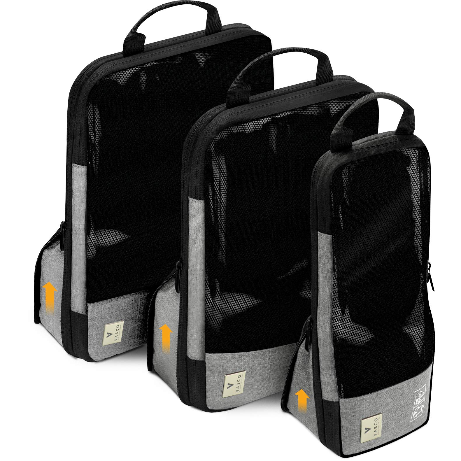 VASCO Compression Packing Cubes for Travel – Set of 3 Slim Packing Cubes