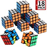 Mini Cube, Puzzle Party Toy(18 Pack), Eco-Friendly Material with Vivid Colors,Party Favor School Supplies Puzzle Game Set for Boy Girl Kid Child, Magic Cube Goody Bag Filler Birthday Gift