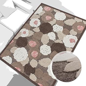 Lalee Teppich Modern Wohnzimmer Jemila 3D Acryl Glitzer Blume Beige ...