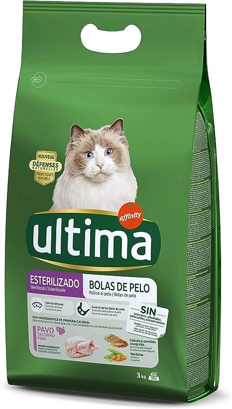 ULTIMA alimento para gatos esterilizados rico en pavo bolsa 3 Kg