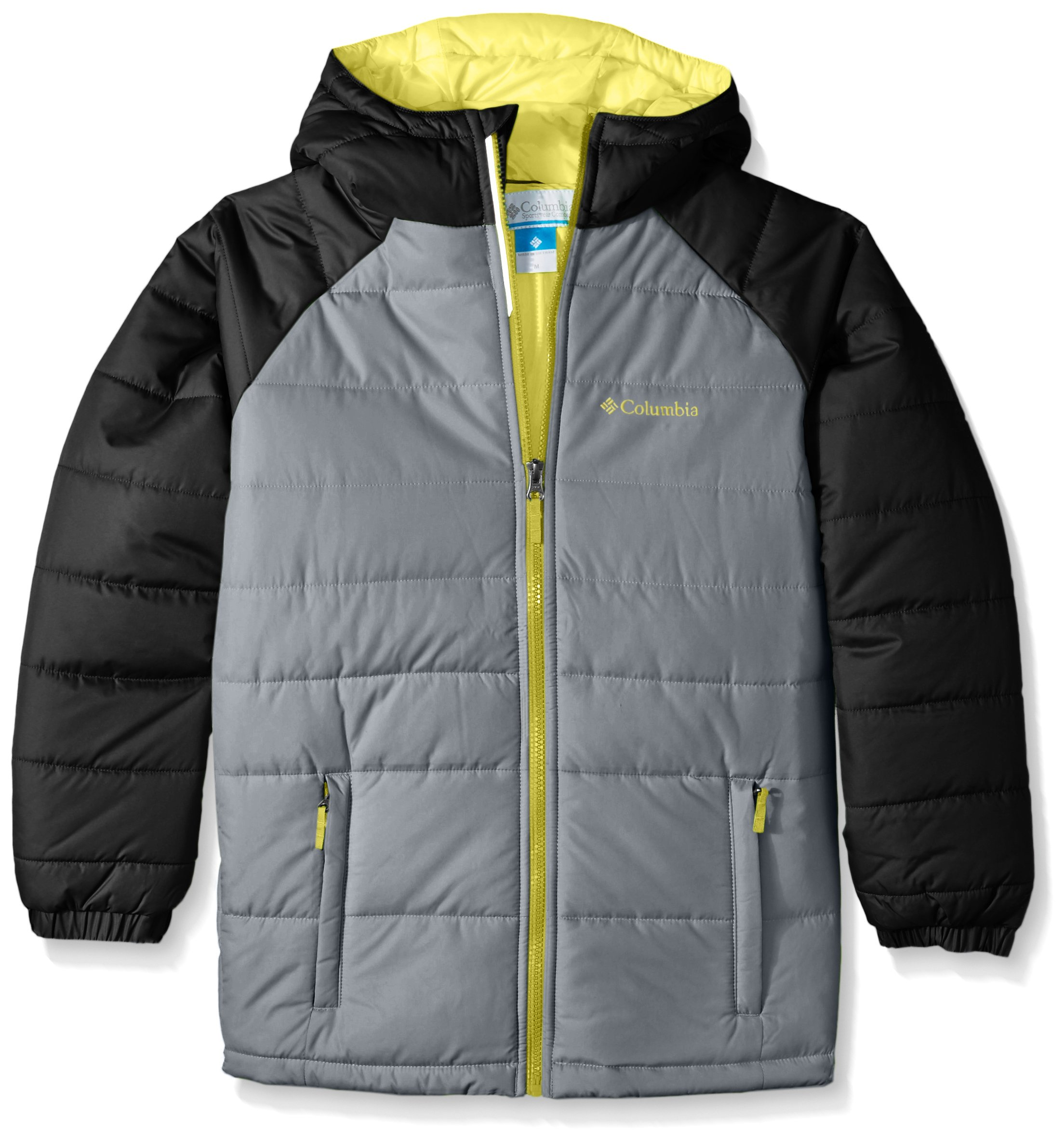 Columbia Boys' Big Tree Time Puffer Jacket, Grey Ash, Medium