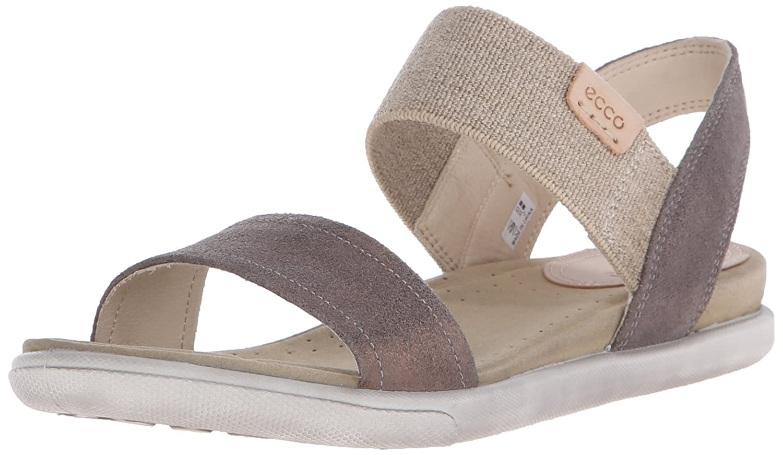 ECCO Footwear Womens Damara Ankle Gladiator Sandal B005BK9AO6 39 EU/8-8.5 M US|Warm Grey