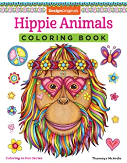 Hippie Animals Coloring Book Is Fun Design Originals