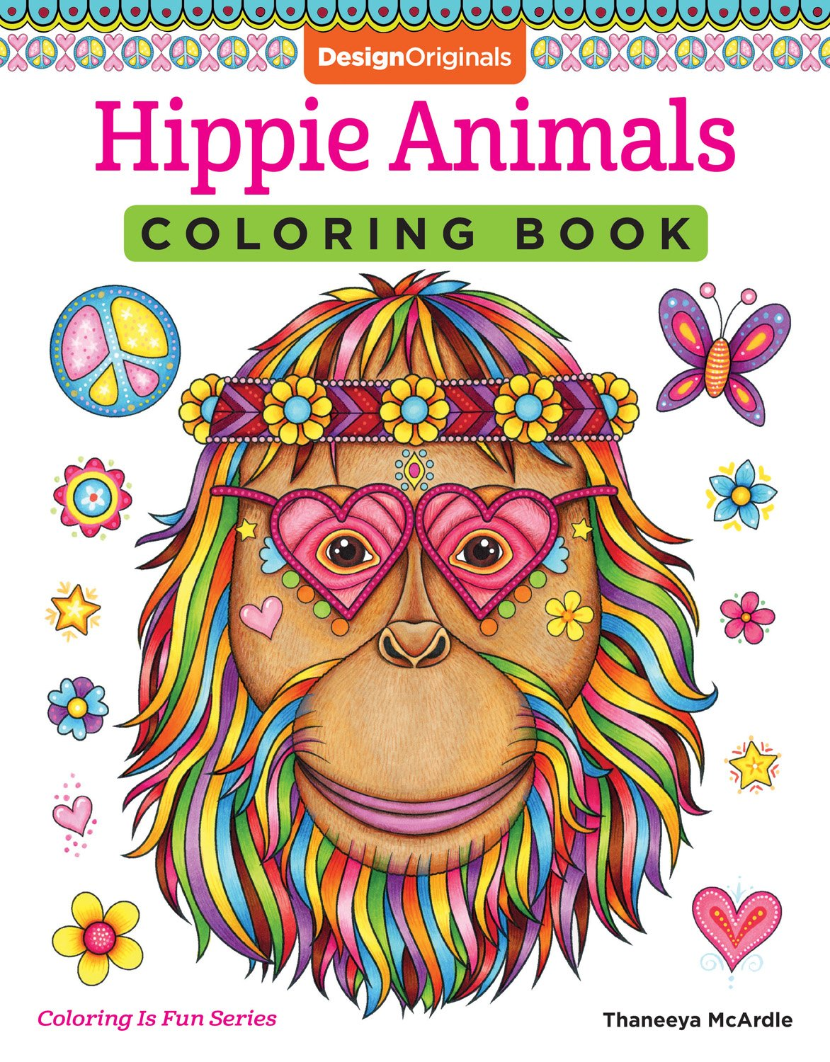 Amazon Hippie Animals Coloring Book Is Fun Design Originals 32 Groovy Totally Chill Animal Designs From Thaneeya McArdle On High Quality