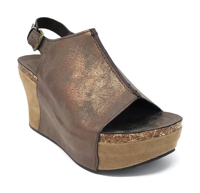 4e187babeb42 Amazon.com  Pierre Dumas Hester-14 Women s Platform Wedge Open Toe Sandals   Shoes