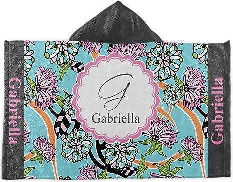 Flores de verano con capucha toalla de baño (personalizado)