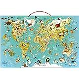 Vilac 76 x 50 x 1 cm Mapa del Mundo Puzzle Magnético de Olivier (78 piezas)