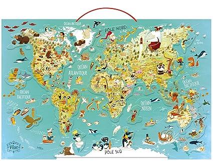 Canada Carte Du Monde.Vilac 2720 Carte Du Monde Fantastique Magnetique Travel