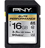 PNY Elite Performance 16GB High Speed SDHC Class 10 UHS-1 Up to 90MB/sec Flash Card - P-SDH16U1H-GE
