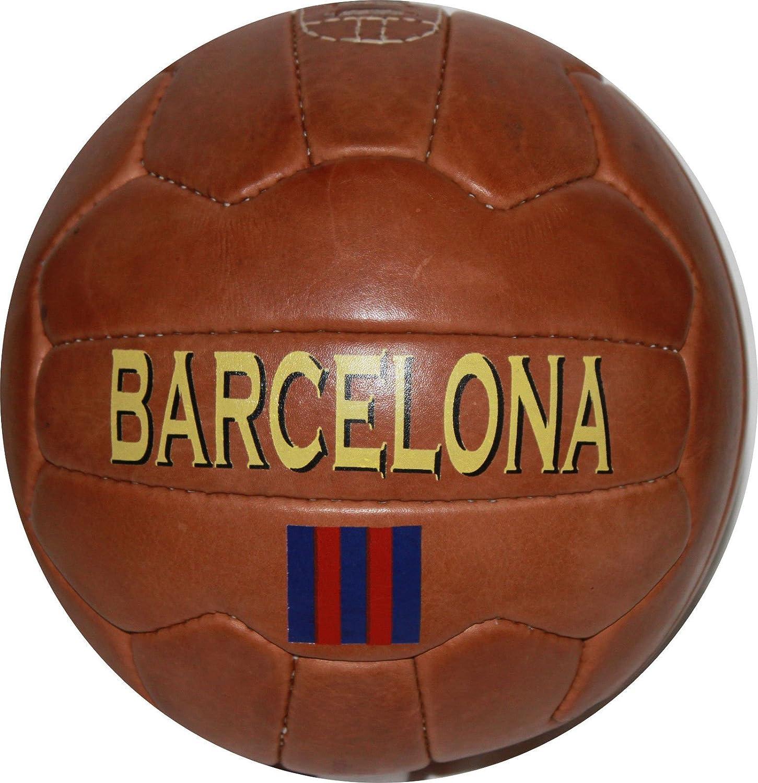 バルセロナ – ヴィンテージレザーサッカーボール1966 – 100 %レザー B011DOOUFW