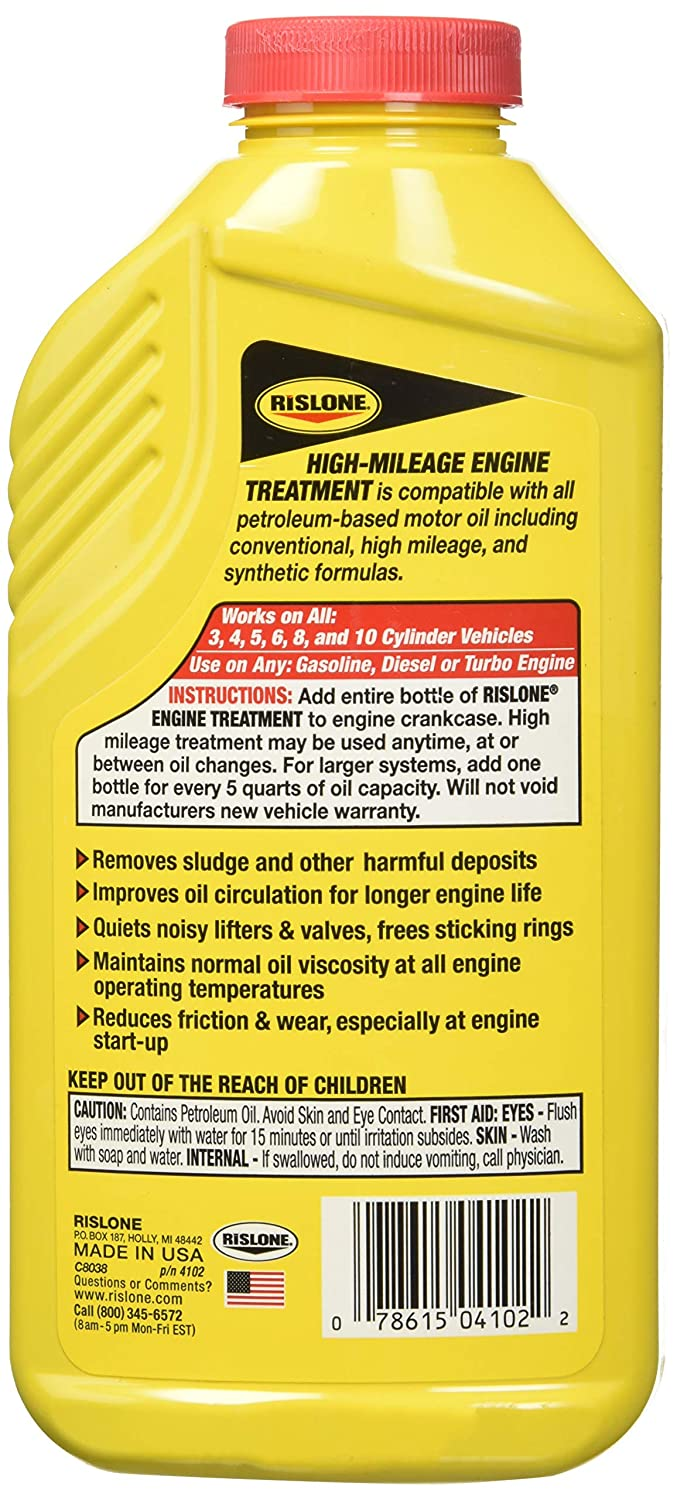 Bar's Leaks Engine Treatment Specially Formulated for High-Mileage Engines  - 16 9 oz