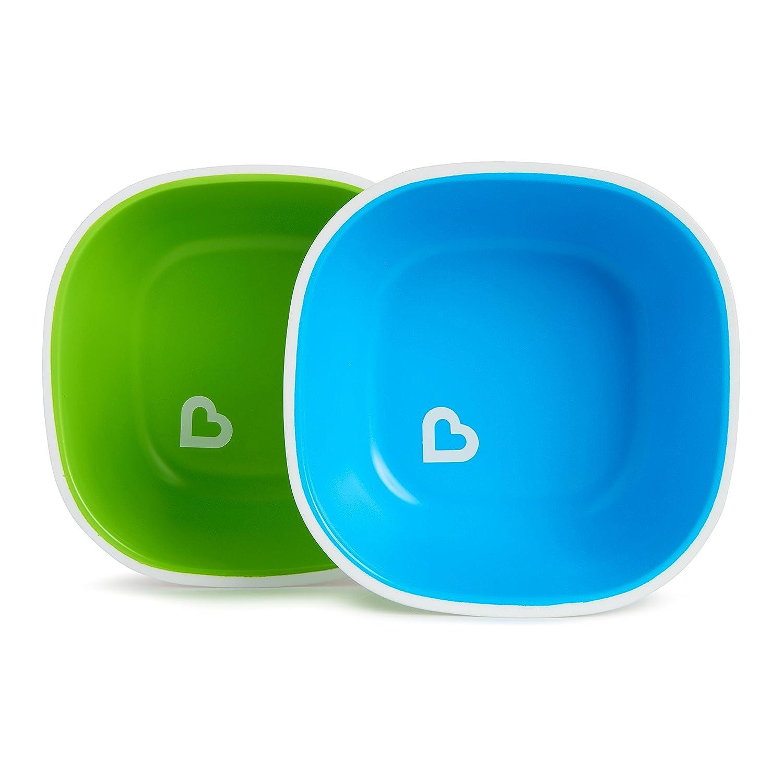 blau//gr/ün Munchkin Splash Kinderteller und Schalen-Set 4-teilig