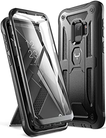 Galaxy S9 Case, YOUMAKER Heavy Duty Protection Kickstand with Built-in Screen Protector Shockproof Case Cover for Samsung Galaxy S9 5.8 inch (2018 ...