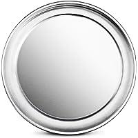 New Star Foodservice 50721 Restaurant-Grade Aluminum Pizza Pan, Baking Tray, Wide Rim, 8-Inch