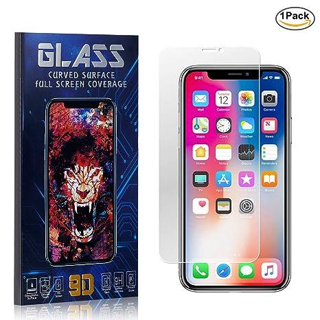 Apple iPhone X Protector de Pantalla de Vidrio Templado-claro como el cristal