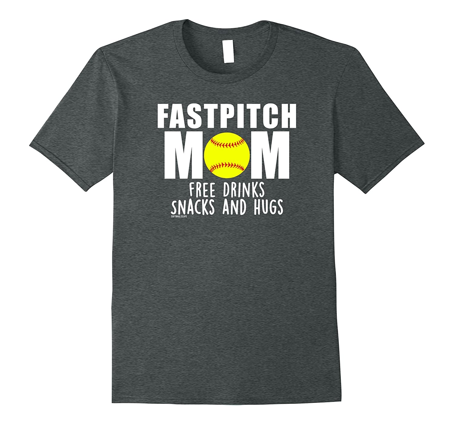 Fastpitch Mom Free Drinks Snacks And Hugs Softball T Shirt