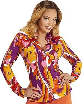 WIDMANN - Blusa estilo años 70 con estampado de orquídeas , color/modelo surtido: Amazon.es: Juguetes y juegos