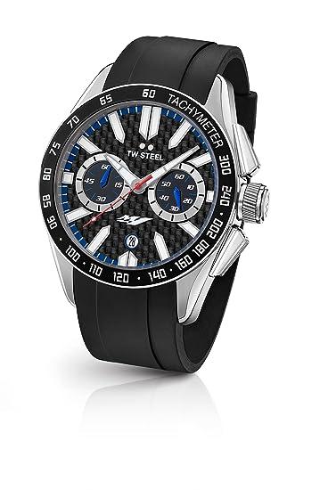 TW Steel Reloj Cronógrafo para Hombre de Cuarzo con Correa en Caucho GS2: Amazon.es: Relojes