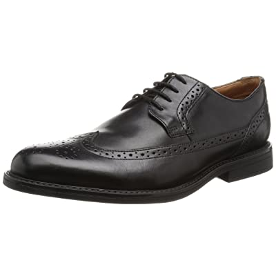 Clarks Beckfield Limit - Black Leather Mens Shoes