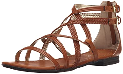 Report Women's GEORGYA Flat Sandal, Tan, ...