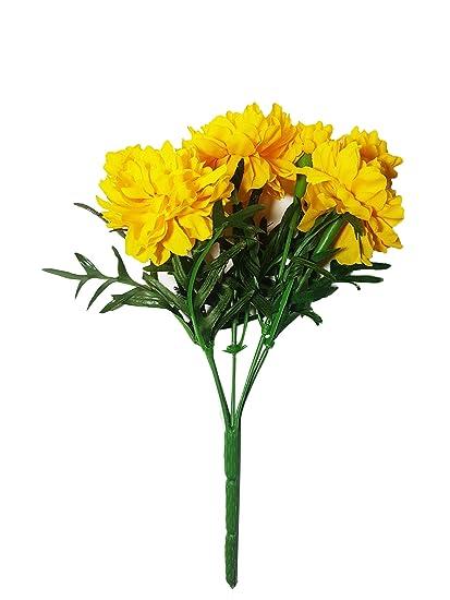 Amazon nava chiangmai thai artificial marigold flowers nava chiangmai thai artificial marigold flowersartificial yellow marigold bunchyellow flowers marigold mightylinksfo