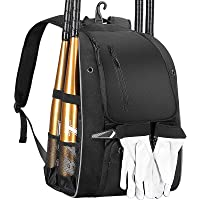 DOVODA Baseball Backpack, Softball Bat Bag with Shoe Compartment, T Ball Equipment Gear for Youth and Adults…