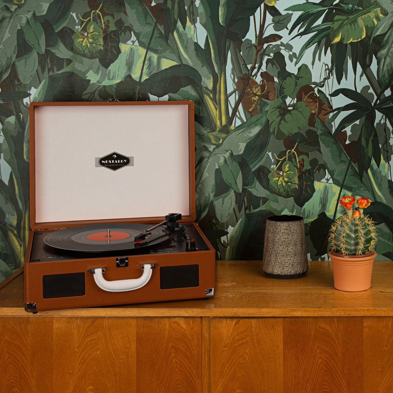 auna Peggy Sue CD tocadiscos retro (USB, SD, reproductor de CD ...