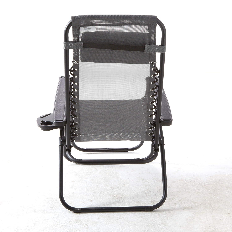 BACKYARD EXPRESSIONS PATIO /· HOME /· GARDEN 906648 Anti-Gravity Chair Grey