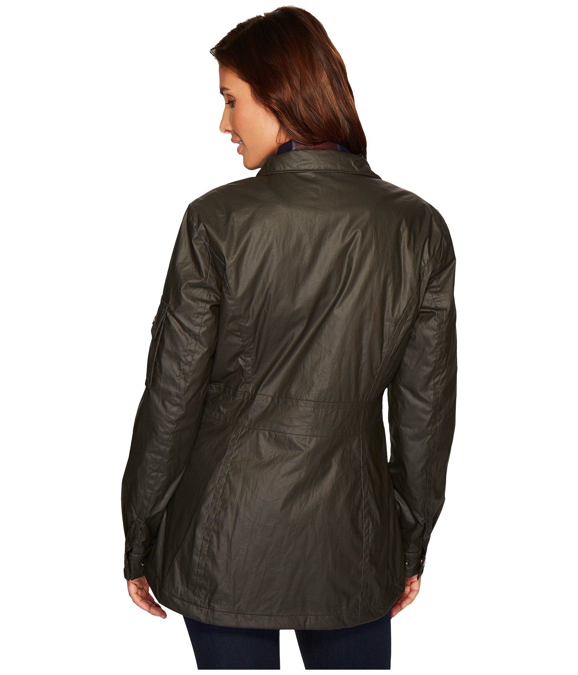 Pendleton Women's Waxed Cotton Hooded Zip Front Jacket, Olive, M by Pendleton (Image #6)